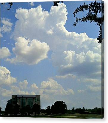 Big Bang What? #creation #clouds #sky Canvas Print by Kel Hill