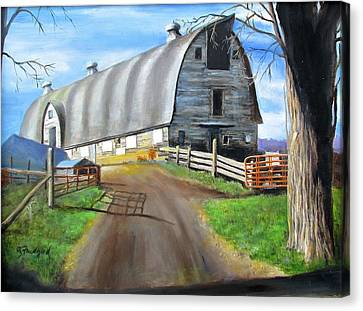 Big Barn At Kripplebush Canvas Print by Oz Freedgood