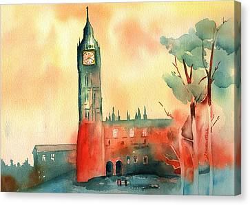 Big Ben    Elizabeth Tower Canvas Print by Sharon Mick
