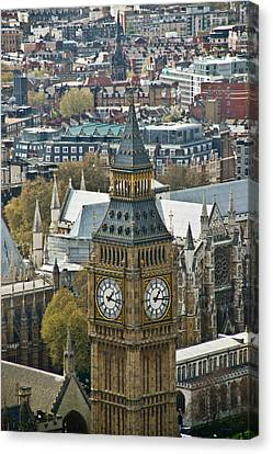 Big Ben Up Close And Personal Canvas Print by Douglas Barnett