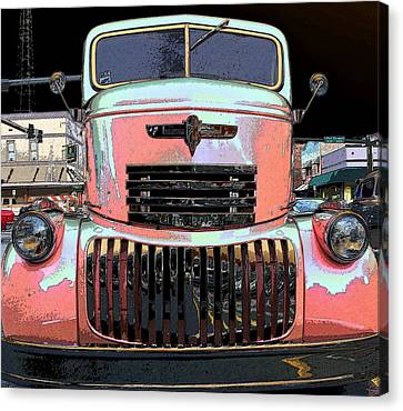 Big Chevy Rig Canvas Print