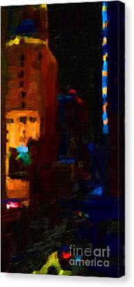 Big City Abstract Canvas Print by Wingsdomain Art and Photography