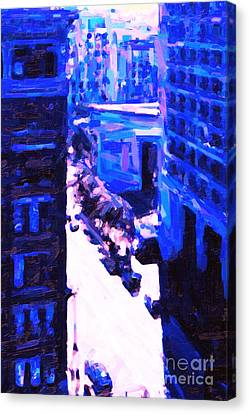 Big City Blues 2 Canvas Print by Wingsdomain Art and Photography