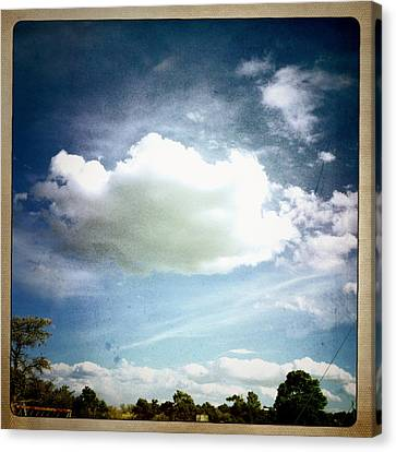 Canvas Print featuring the photograph Big Cloud by Paul Cutright