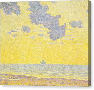 Pirate Ships Canvas Print - Big Clouds by Theo van Rysselberghe