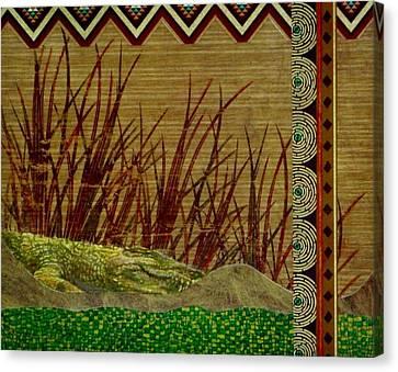 Big Croc Canvas Print by David Raderstorf