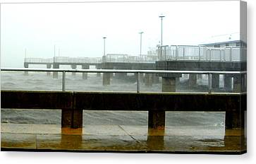 Big Dock Tropical Storm Canvas Print by Sheri McLeroy