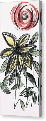 Canvas Print featuring the painting Big Flower by Alethea McKee
