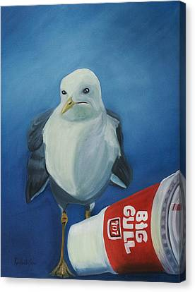 Big Gull Canvas Print by Amy Reisland-Speer