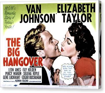 Big Hangover, Van Johnson, Elizabeth Canvas Print by Everett
