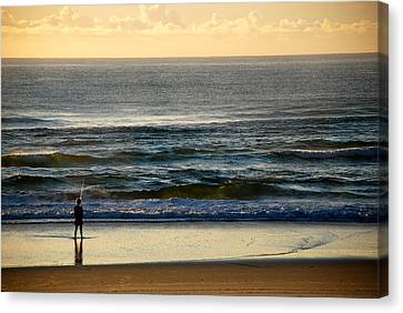 Canvas Print featuring the photograph Big Ocean  by Eric Tressler