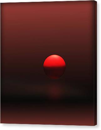 Canvas Print featuring the photograph Big Red Ball by Deborah Smith