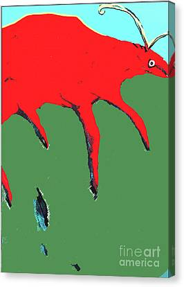 Canvas Print featuring the painting Big Red by Bill Thomson