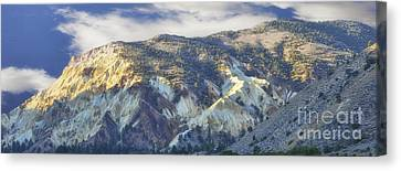 Big Rock Candy Mountains Canvas Print by Donna Greene