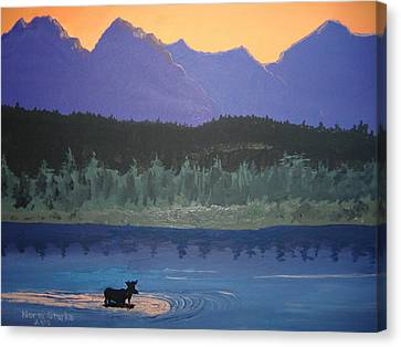 Canvas Print featuring the painting Big Sky Country by Norm Starks