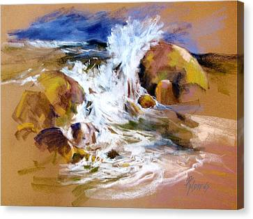 Canvas Print featuring the painting Big Splash by Rae Andrews