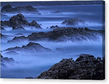 Canvas Print featuring the photograph Big Sur Mist by William Lee