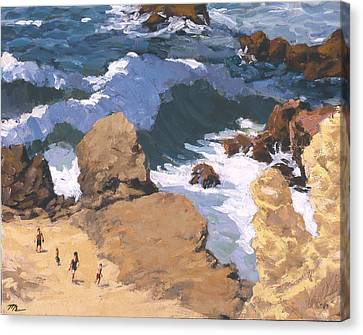 Big Surf At Little Corona Canvas Print