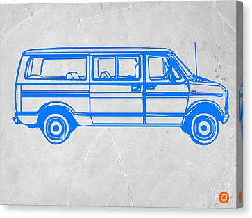 Old Canvas Print - Big Van by Naxart Studio