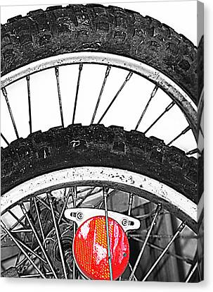 Big Wheels Keep On Turning Canvas Print by Empty Wall
