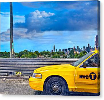 Canvas Print featuring the photograph Big Yellow Taxi by Marianne Campolongo