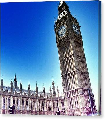 Instamood Canvas Print - #bigben #uk #england #london2012 by Abdelrahman Alawwad