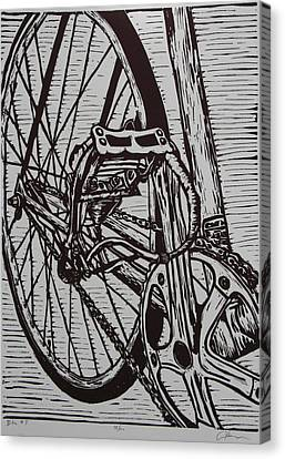 Canvas Print featuring the drawing Bike 3 by William Cauthern