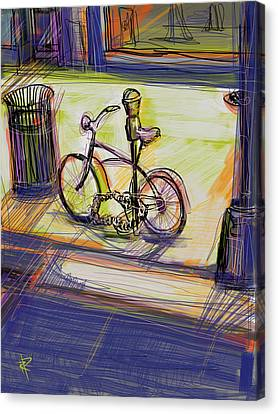 Bike At Rest Canvas Print