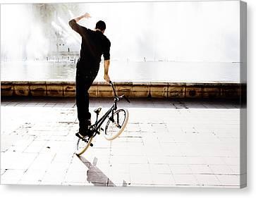 Bike Mx Canvas Print by Gabriel Calahorra