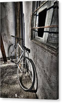 Bike Station Canvas Print by Gabriel Calahorra