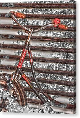 Bikelock Canvas Print by Jerry Cordeiro