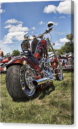 Biker Style Canvas Print by Peter Chilelli