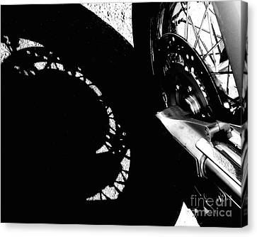 Bikers View Canvas Print by Steven Milner