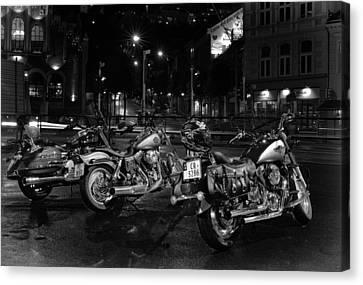 Bikes Canvas Print by A A
