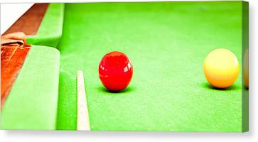 Billiard Table Canvas Print by Tom Gowanlock
