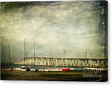 Biloxi Bay Bridge Canvas Print by Joan McCool