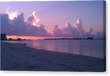 Canvas Print featuring the photograph Biloxi Sunrise by Brian Wright