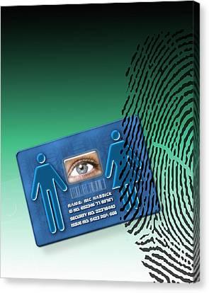 Biometric Id Card Canvas Print