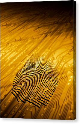 Biometric Security, Artwork Canvas Print by Victor Habbick Visions