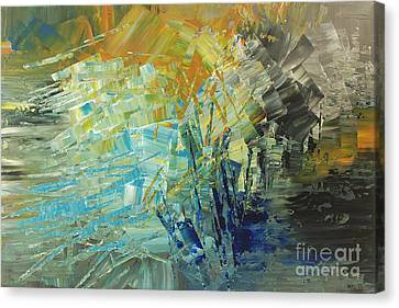 Canvas Print featuring the painting Biosphere 2 by Tatiana Iliina