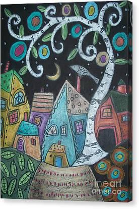 Birch Village Canvas Print by Karla Gerard