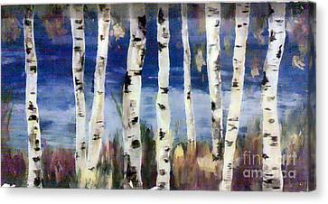 Birches Canvas Print by Cathy Weaver