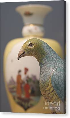 Bird And Vase Canvas Print by James Knights