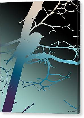 Bird At Twilight Canvas Print by Lauren Radke