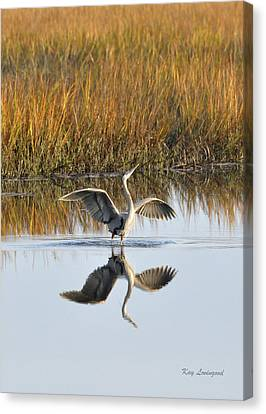 Canvas Print featuring the photograph Bird Dance by Kay Lovingood