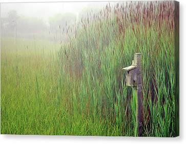 Bird House In Quogue Wildlife Preserve Canvas Print by Rick Berk