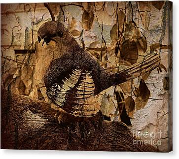 Bird In Brown Canvas Print