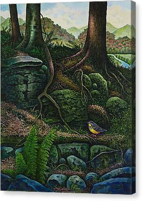 Bird In Paradise Vii Canvas Print by Michael Frank