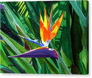 Bird-of-paradise Canvas Print by Mike Robles