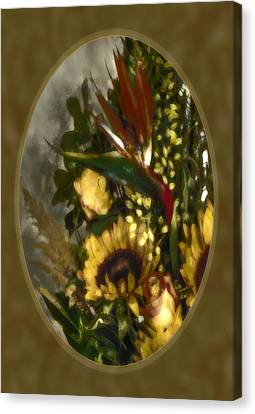 Bird Of Paradise Sepia Glow Canvas Print by Jill Balsam